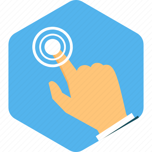 click, direction, finger, location, point, pointer, touch icon