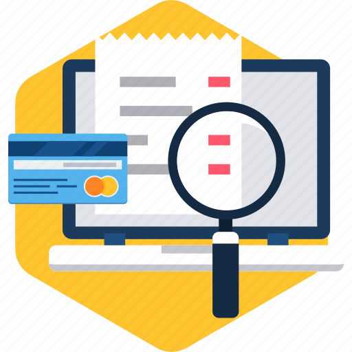 bill, card, details, invoice, online, pay, payment icon