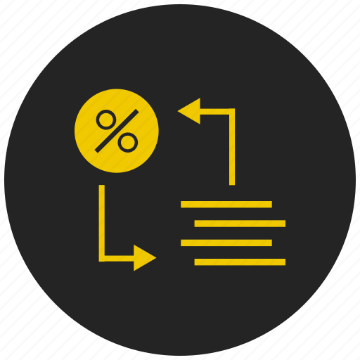 arithmetic operator, division, math, mod, percentage icon