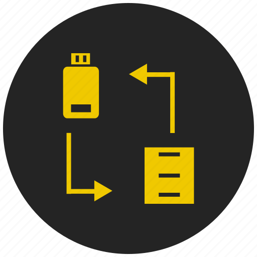 adaptive, computer, data transfer, interface, pendrive, usb icon