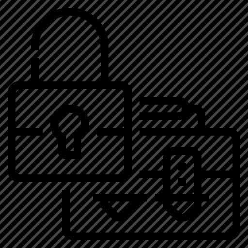 bag, business, development, lock, money, safe, security icon