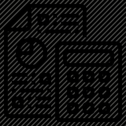 business, calculate, calculator, development, estimate icon