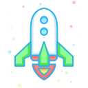 business, company, economic, finance, interprise, rocket icon