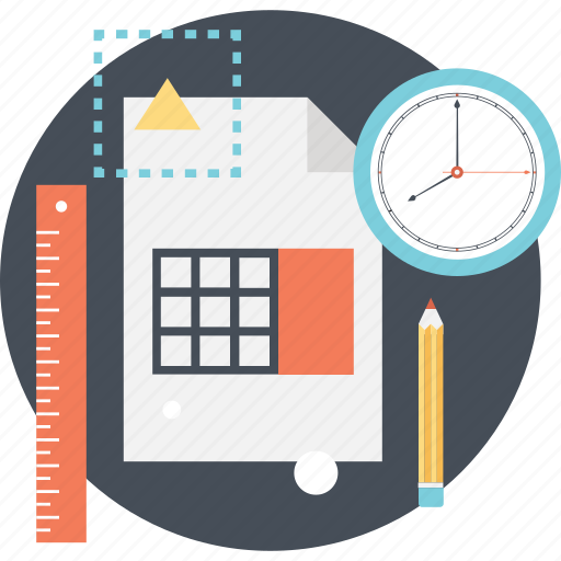 Budget, calculator, clock, planning, ruler icon - Download on Iconfinder
