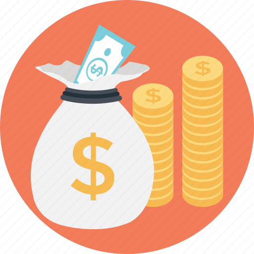 Coins, dollar, investment, money, sack icon - Download on Iconfinder