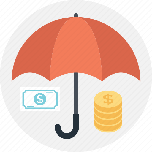 business, coins, dollar, insurance, paper money icon