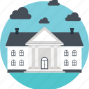 architecture, building, court, real estate, school building icon