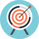 aim, bullseye, goal, shooting, target icon