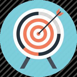 aim, bullseye, goal, shooting, target icon