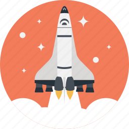launch, missile, rocket, space shuttle, spacecraft icon