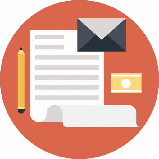 Letter, media, newsletter, newspaper, pencil icon - Download on Iconfinder