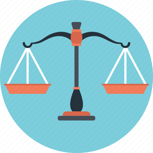 balance, justice, law, legal, scales icon