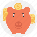 bank, cash bank, funding, piggy, saving icon