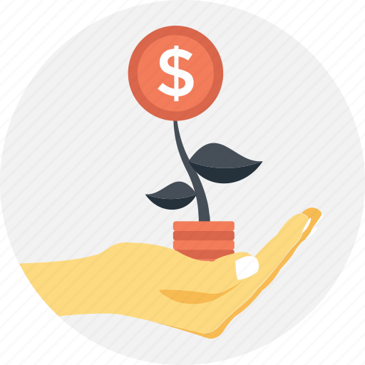 business, business growth, dollar, growth, plant icon