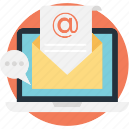 arroba, email marketing, letter, message, sheet icon