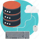data, database, keyboard, server, shared icon