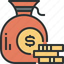 cash, coin, currency, financial, money, revenues icon icon