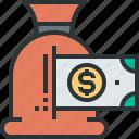 bag, cent, coins, finance, money, saving, saving icon icon