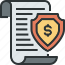 banking, protection, safety, secure, security, shield icon, tax icon
