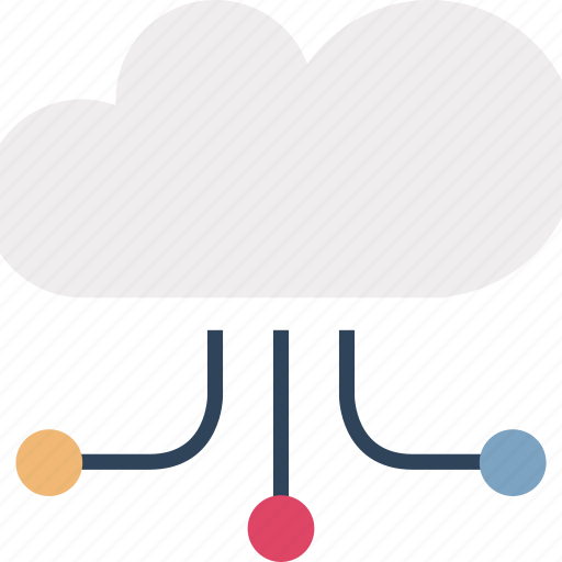 cloud computing, cloud hierarchy, cloud links, cloud sharing, data cloud, networking, storage cloud icon