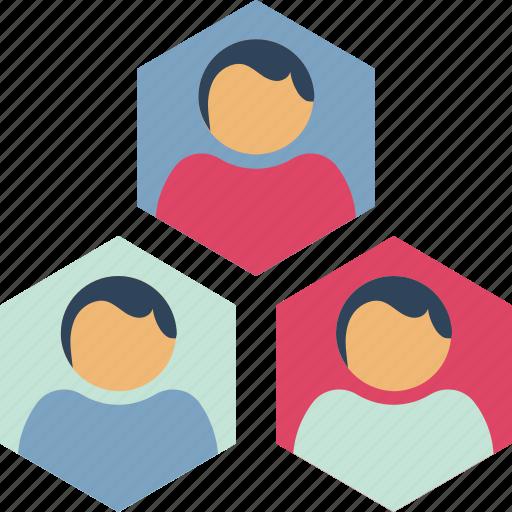 collaboration, group, management, network, organization structure, team, workflow icon