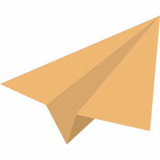 dart, handmade plane, origami, paper airplane, paper plane, plane, send message icon
