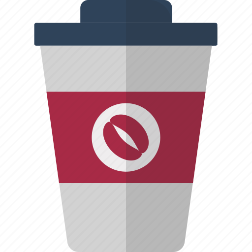 cafe, coffee cup, coffee shop, cold coffee, disposable cup, drink, paper cup icon