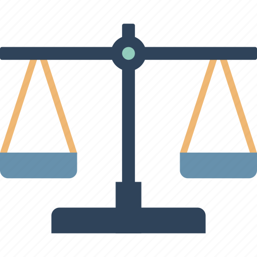 balance scale, equality in business, justice, justice scale, law, legal, trade icon