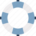 life ring, lifebuoy, lifeguard, lifesaver, ring buoy, save guard icon