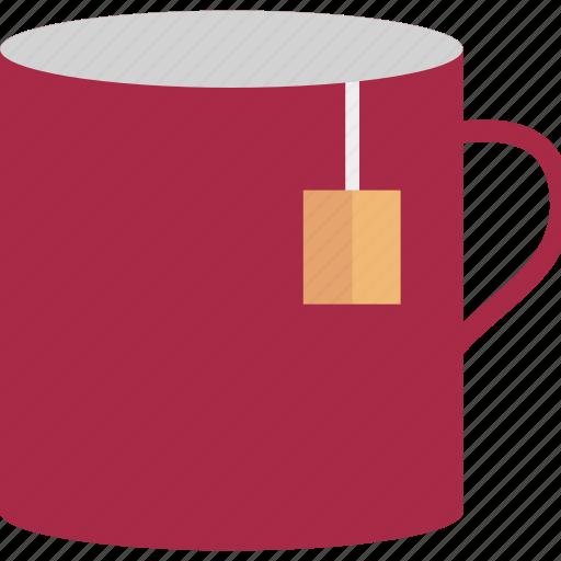 beverage, hot drink, instant tea, mug, tea bag, tea cup, tea mug icon