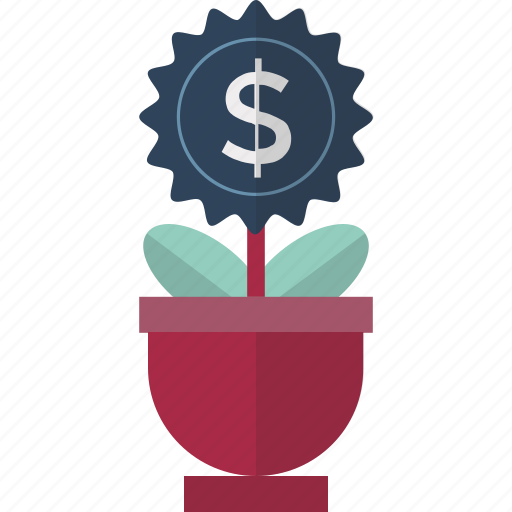 business expand, business growth, commerce, dollar, dollar growing, dollar plant, investment icon