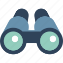 binocular, field glass, magnifying glass, search, spyglass, view, zoom icon