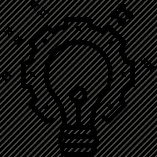 bulb, idea, idea build, idea generate, innovation, invention, light bulb icon