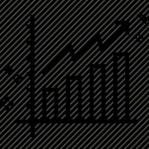 bar chart, bar graph, business graph, business growth, growth chart, statistics icon