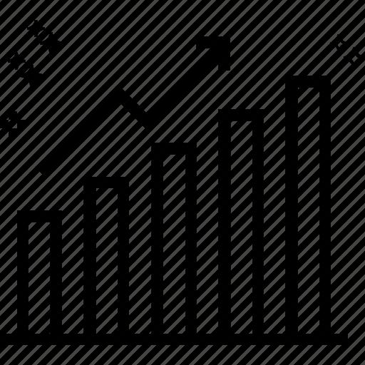 ascending chart, bar chart, bar graph, growth chart, infographics, progress chart, statistics icon