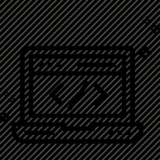 coding, div, html, html coding, programming, source code, web development icon