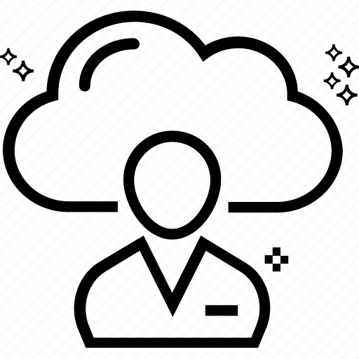 cloud computing, cloud user, data storage, developer, file storage, storage cloud, user avatar icon