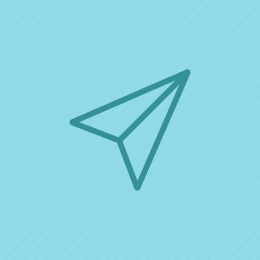 arrow, communication, cursor, email, message, paper, plane icon