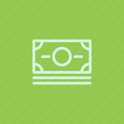 bill, cash, commerce, currency, dollar, finance, money icon