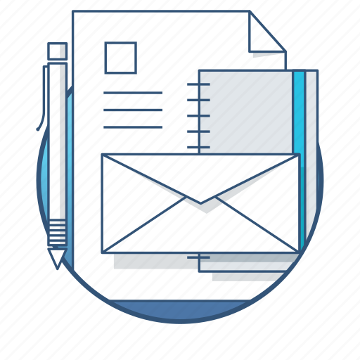 document, envelope, files, folder, office, paper, tools icon