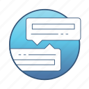 bubble, chat, communication, conversation, internet, message, network icon