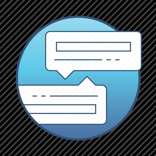 bubble, chat, communication, conversation, internet, message, network icon