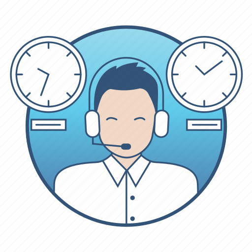 business, clock, communication, helpdesk, interaction, marketing, time icon