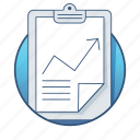 analytics, business, clip board, finance, graph, office, report icon