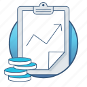 analytics, business, chart, clip board, money, payment, report icon