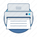 business, documents, file, office, paper, printer, printing icon