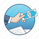business, cash, document, finance, marketing, money, payment icon
