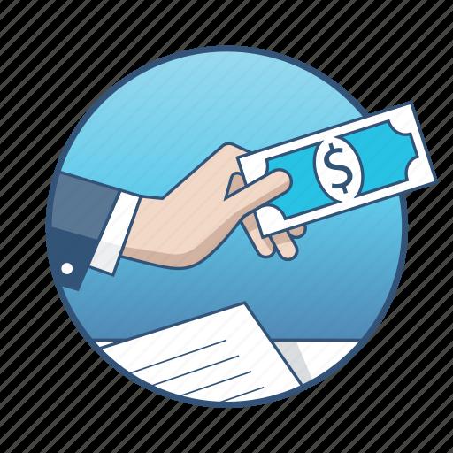 business, cash, document, finance, marketing, money, payment icon