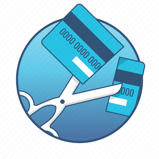business, credit card, cut, cutting, office, scissors, tool icon