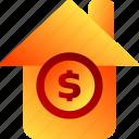 bukeicon, finance, house, money storage, property, warehouse